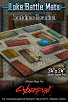 """Container Terminal 24"""" x 24"""" Cyberpunk RED Map"""