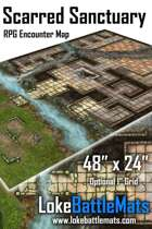 """Scarred Sanctuary 48"""" x 24"""" RPG Encounter Map"""