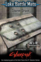 "Storm Drain 36"" x 18"" Cyberpunk RED Map"