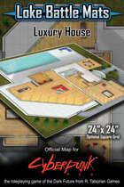 "Luxury House 24""x24"" Cyberpunk RED Map"