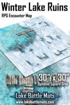 "Winter Lake Ruins 30"" x 30"" RPG Encounter Map"