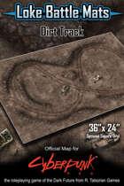 """Dirt Track 36"""" x 24"""" Cyberpunk RED Battle Map"""