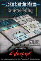 """Municipal Building 24"""" x 17"""" Cyberpunk RED Battle Map"""