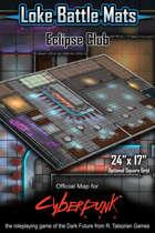 """Eclipse Club 24"""" x 17"""" Cyberpunk RED Battle Map"""