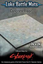 "Concrete Floor 24"" x 24"" Cyberpunk RED Battle Map"