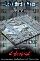 """Datacore 24"""" x 17"""" Cyberpunk RED Battle Map"""