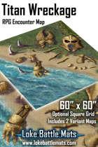 "Titan Wreckage 60"" x 60"" RPG Encounter Map"