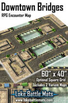 "Downtown Bridges 60"" x 40"" RPG Encounter Map"