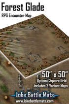 """Forest Glade 50"""" x 50"""" RPG Encounter Map"""