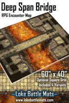 "Deep Span Bridge 60"" x 40"" RPG Encounter Map"