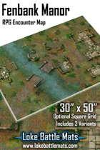 "Fenbank Manor 50"" x 30"" RPG Encounter Map"