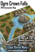 "Ogre Crown Falls 50"" x 70"" RPG Encounter Map"
