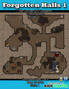 50+ Fantasy RPG Maps 1: (16 of 94) Forgotten Halls 1
