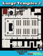 50+ Fantasy RPG Maps 1: (32 of 95) Large Temples 2