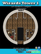 50+ Fantasy RPG Maps 1: (41 of 95) Wizard's Tower 1