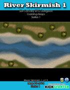 50+ Fantasy RPG Maps 1: (70 of 95) River Skirmish 1