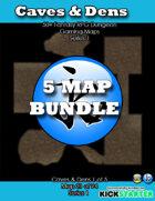 50+ Fantasy RPG Maps 1 Bundle 14: Cave & Dens Bundle [BUNDLE]