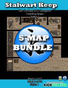 50+ Fantasy RPG Maps 1 Bundle 12: Stalwart Keep Bundle [BUNDLE]