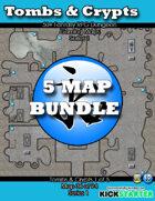 50+ Fantasy RPG Maps 1 Bundle 09: Tomb & Crypts Bundle [BUNDLE]