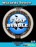 50+ Fantasy RPG Maps 1 Bundle 06: Wizard's Tower Bundle [BUNDLE]