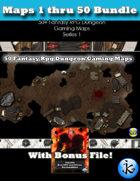 50+ Fantasy RPG Maps 1 Bundle 03: Maps 1 thru 50 [BUNDLE]