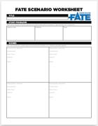 Fate Scenario Worksheet