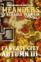 Meanders Map Pack: Fantasy City - Autumn III