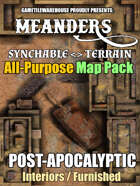 Meanders All-Purpose Map Pack - POST-APOCALYPTIC CITY INTERIORS