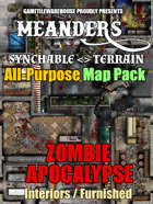 Meanders All-Purpose Map Pack - ZOMBIE-APOCALYPSE CITY INTERIORS