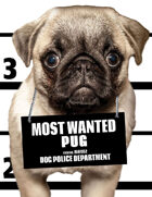 Most Wanted Pug Poker Size Playing Cards Deck