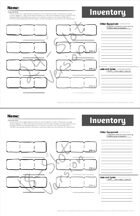Anti-Hammerspace Inventory Tracking Sheets