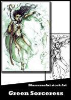 BlaszczecArt Stock Art: Green Sorceress