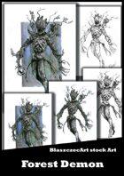 BlaszczecArt Stock Art: Forest Demon