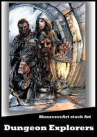 BlaszczecArt Stock Art: Dungeon Explorers Cover