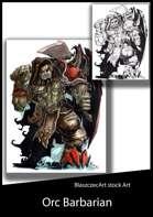 BlaszczecArt Stock Art: Male Ork Barbarian