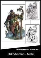BlaszczecArt Stock Art: Male Ork Shaman