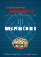 Titan Effect RPG: Weapon Cards