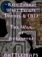 Reju Furra Well Escape Tunnel & (B1) | Battlemap - The War of Auraspure