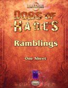 Dogs of Hades: Ramblings