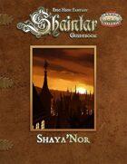 Shaintar Guidebook: Shaya'Nor