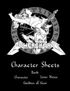 Powerchords Character Sheets