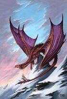 Dragon in the Snow - RPG Stock Art