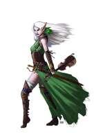 Female Elf Bard - RPG Stock Art