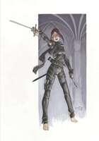 Female Swashbuckler - RPG Stock Art