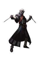Dark Elf Bladesmith - RPG Stock Art