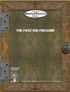 One Page OSR Firearms