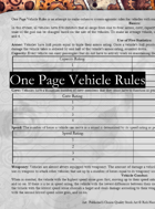 One Page Vehicle Rules