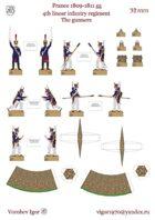 Artillery crew 4-th linear regiment. France 1809-1811 year