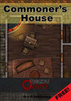 ReadyQuest Maps - Fantasy: Commoner's House 15 x 15 FREE