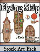 Flying Ship - Stock Art